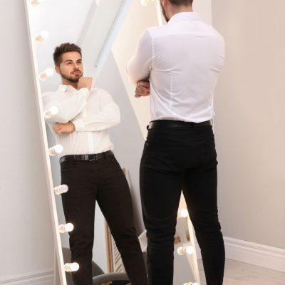 be your own critic, look in mirror, public speaking